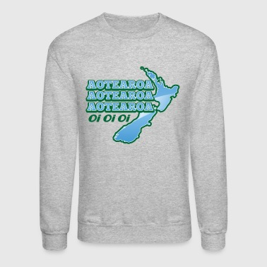 AOTEAROA OI OI OI NEW ZEALAND map  - Crewneck Sweatshirt