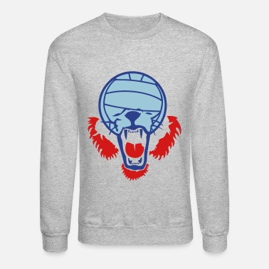Waterpolo volleyball waterpolo ball lion face - Crewneck Sweatshirt