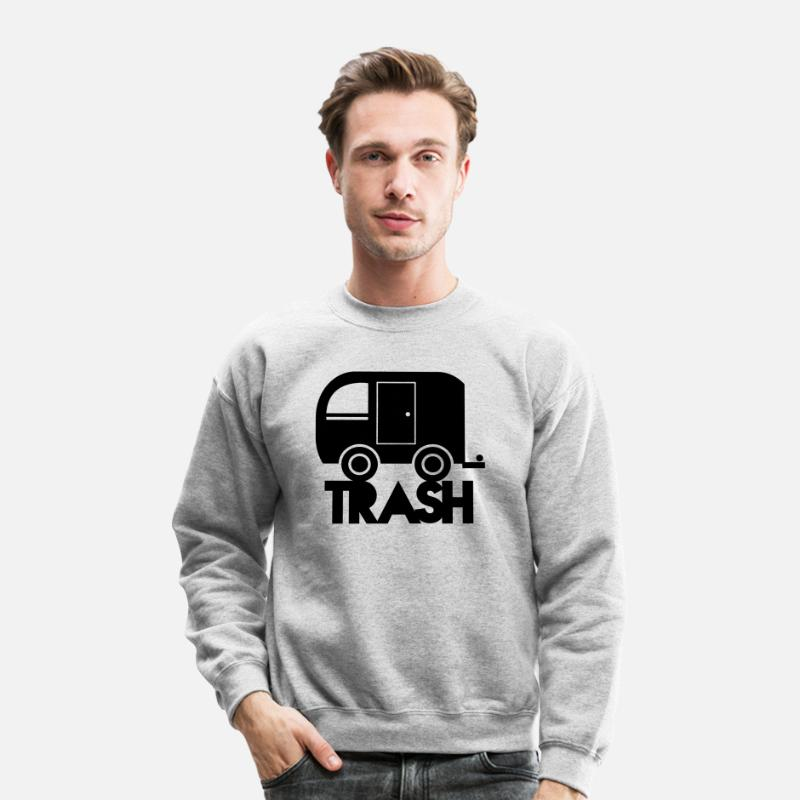 Trash Hoodies & Sweatshirts - TRAILER TRASH towing cargo  - Unisex Crewneck Sweatshirt heather gray