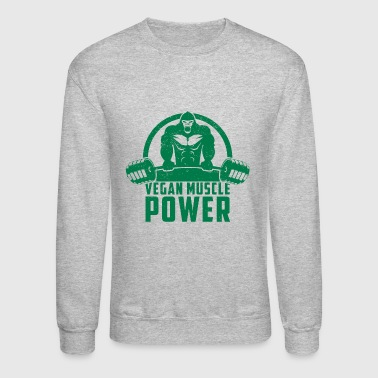 Vegan Muscle Power Gorilla Gift - Crewneck Sweatshirt