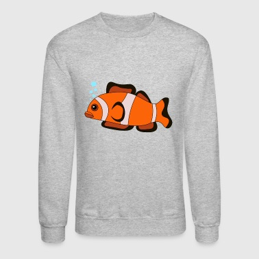 clown fish fish animal tiere - Crewneck Sweatshirt