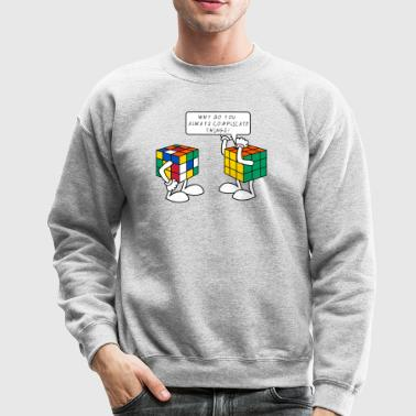 Rubik's Cube Formula Theory Of Relativity Blue - Crewneck Sweatshirt