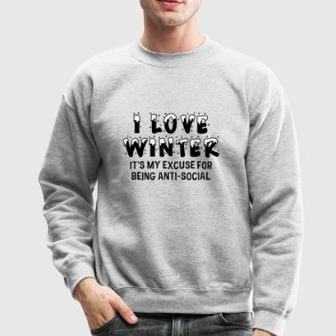 I Love Winter - Crewneck Sweatshirt