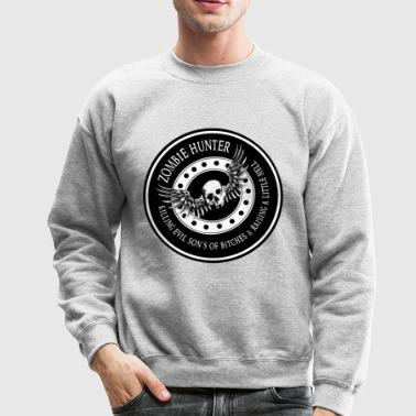 Zombie Hunter Ring Patch Revised - Crewneck Sweatshirt