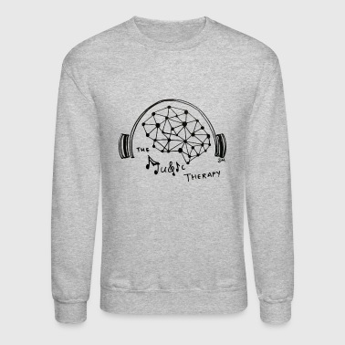 Music Therapy - Black - Transparent - Crewneck Sweatshirt