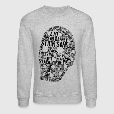 Hockey Goalie Mask Typography - Crewneck Sweatshirt