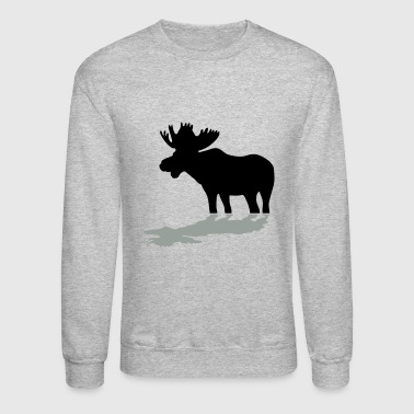 Moose Moose at Lake - Crewneck Sweatshirt