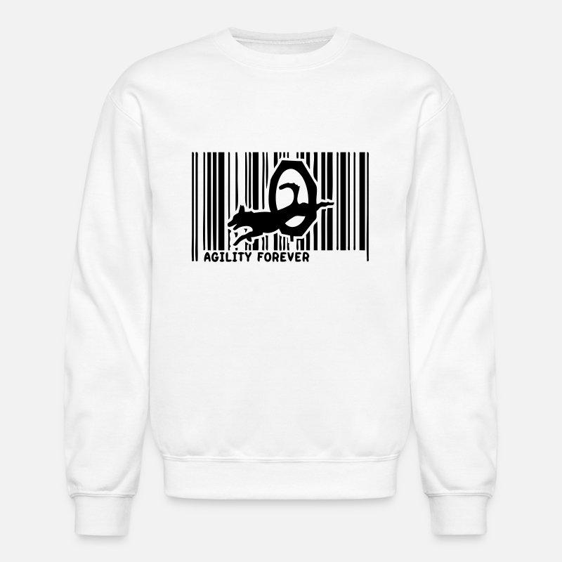 Dog Agility Barcode Unisex Crewneck Sweatshirt