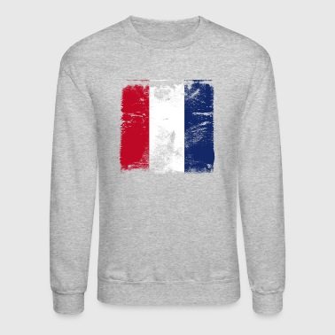 French Flag Used French Flag - Crewneck Sweatshirt