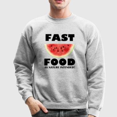 Fast Food watermelon - Crewneck Sweatshirt