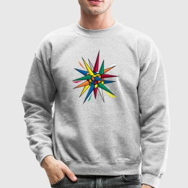 Rubik's Cube Colourful Spikes - Crewneck Sweatshirt