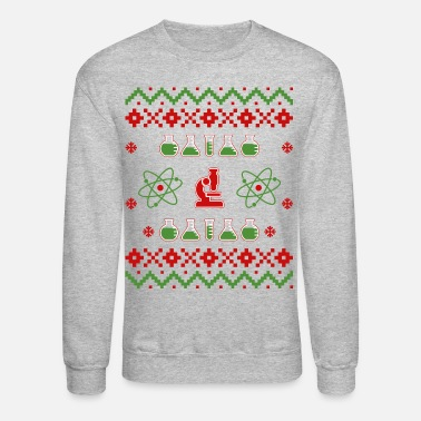 Science Ugly Ugly Christmas Science Sweater - Crewneck Sweatshirt