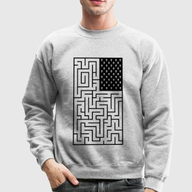 Maze style Pirate Flag - Crewneck Sweatshirt