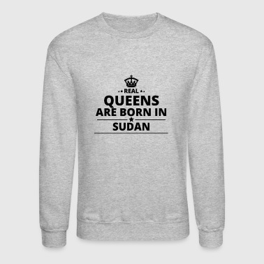 geschenk love queens are born SUDAN - Crewneck Sweatshirt