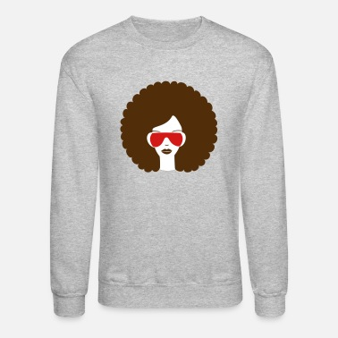 Curly Curly haired summer girl - Crewneck Sweatshirt
