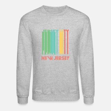 Jersey Girl Retro Jersey City New Jersey Skyline - Crewneck Sweatshirt