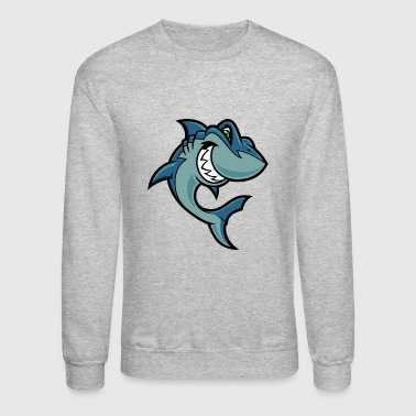 blue_cartoon_shark - Crewneck Sweatshirt