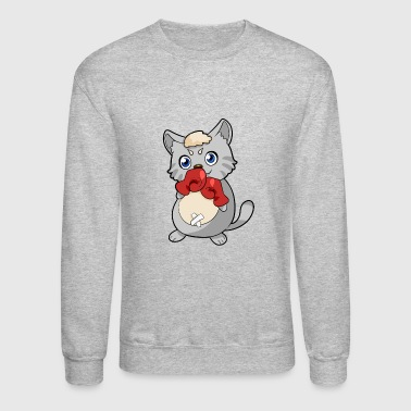 Boxing Cat - Crewneck Sweatshirt