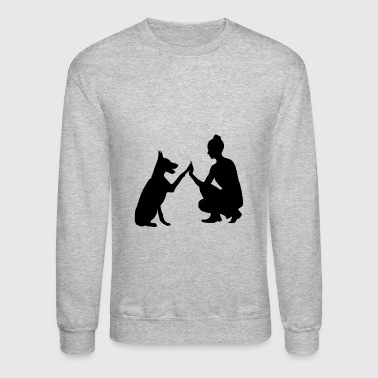 dog and owner - Crewneck Sweatshirt