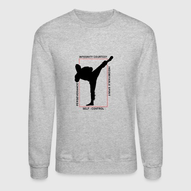 Taekwondo Shirt Martial Arts MMA 5 Tenants T Shirt - Crewneck Sweatshirt