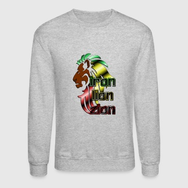 Iron Metal Reggae music, rastafari, Iron, lion, zion metal - Crewneck Sweatshirt