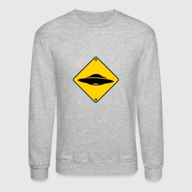 ufo road sign - Crewneck Sweatshirt