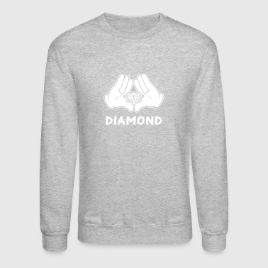 mickey hands diamond - Crewneck Sweatshirt
