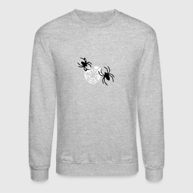 spider and web - Crewneck Sweatshirt