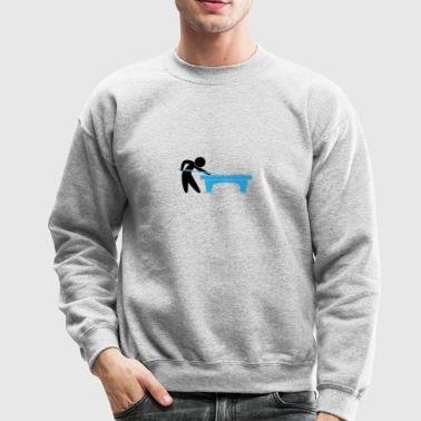 A Pool Player Is On The Pool Table - Crewneck Sweatshirt