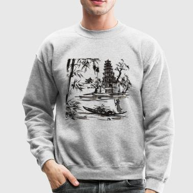 AD asian street art Vietnam Asia - Crewneck Sweatshirt