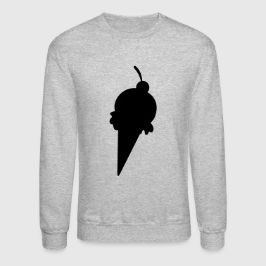yummy yummy icecream with a cherry shape - Crewneck Sweatshirt