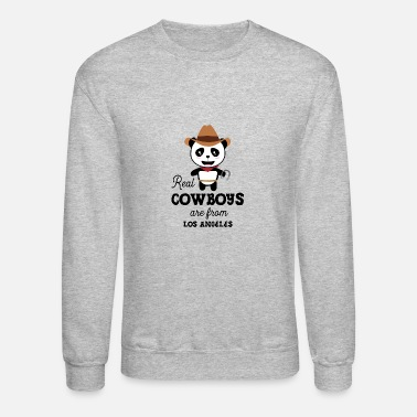 Smog Real Cowboys are from Los Angeles Gift - Crewneck Sweatshirt