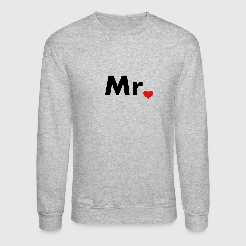 Mr with heart dot - part of Mr and Mrs set - Crewneck Sweatshirt