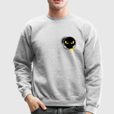 Cartoon character eyes- patch - Crewneck Sweatshirt