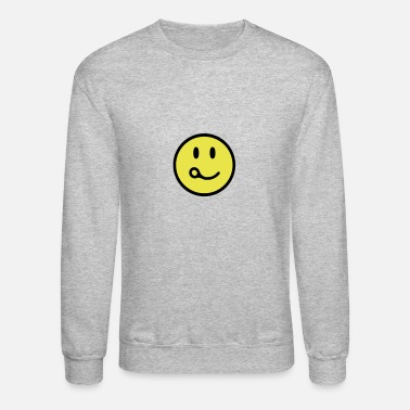 Skydiving Smiling Closing Pin - Crewneck Sweatshirt