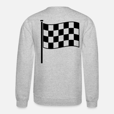 Motor checkered flag RACING motor sport - Crewneck Sweatshirt