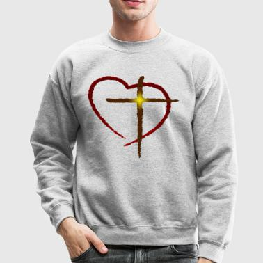 Heart and Cross - Crewneck Sweatshirt