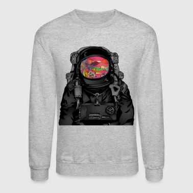 tripped out space man - Crewneck Sweatshirt