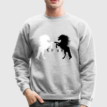 Love you ,Pferd ,Reiter ,Westernreiten Reitsport, - Crewneck Sweatshirt