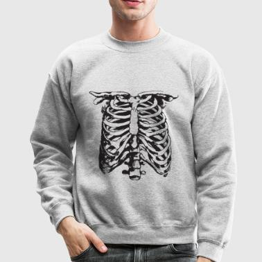 WHITE CREEPY RIB CAGE - Crewneck Sweatshirt