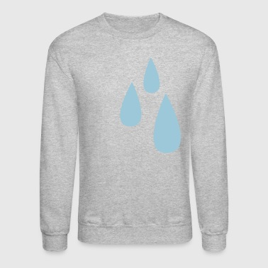 droplets dripping tears tear drop - Crewneck Sweatshirt