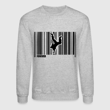 barcode breakdancing hip hop dance 1 - Crewneck Sweatshirt