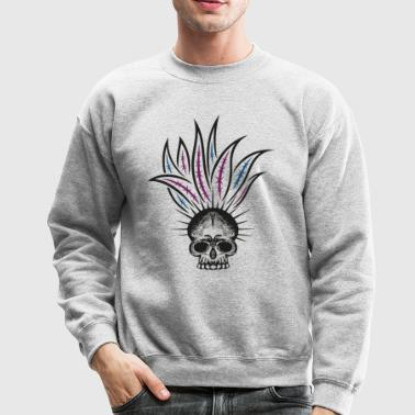 Pineapple skull. Motif for the summer. - Crewneck Sweatshirt