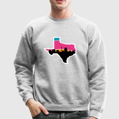 San Antonio Skyline Spurs - Crewneck Sweatshirt