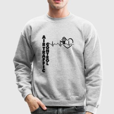 Air Traffic Control Heartbeat Shirt - Crewneck Sweatshirt