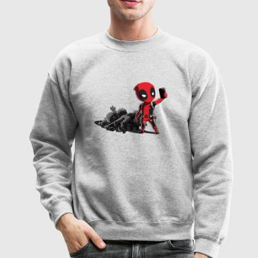 Deadpool Selfie - Crewneck Sweatshirt