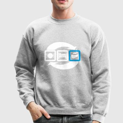 Eat sleep baseball repeat gift - Crewneck Sweatshirt