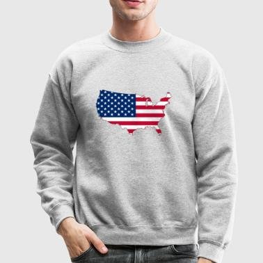 USA Flag - Crewneck Sweatshirt