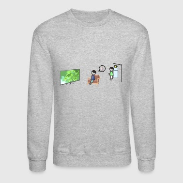 on fire - Crewneck Sweatshirt
