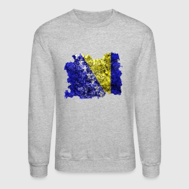 Bosnia and Herzegovina Vintage Flag - Crewneck Sweatshirt